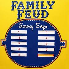 Diy Family Feud 25 Unique Board