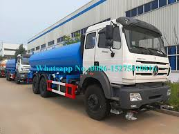 100 Water Truck Tanks Beiben North Benz 6x6 380hp Tanker Vehicle 18000