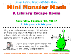 Mark Our Mini Monster Mash And Library Escape Room In Your ... Friends And Family Learning Space Grand Opening Wednesday March Recent Blog Posts Page 6 Dentist Near Me Contact Us Heights Dental Center Mark Our Mini Monster Mash Library Escape Room In Your Padawans Gather For Star Wars Reads Program At A Library Not So Dive In Tonight The Carl Levin Outdoor Pool Supheroes Fly Storytime Barnes Noble Local Signed Edition Books Black Friday Epublishing Workshop Saturday August 5 2017 200pm Sign Dr Seusss Wacky World Feb 28th Lisa Youngblood