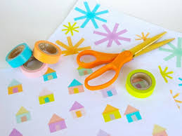 Using The Washi Tape Create A Design Of Your Choice All Over Piece Printer Paper I Made 4 Different Designs