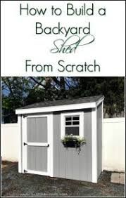 how to build a shed from scratch by just the woods