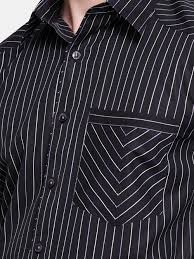 black u0026 white striped smart casual shirt 100 polyester mens dress