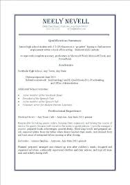 Good Resume Examples High School Students Part Time Work For College Junior Example Of A Highschool