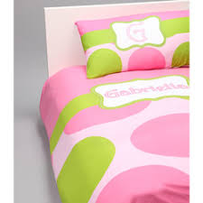 & Green Dot Personalized Toddler Bedding Set