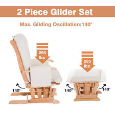 HOMCOM 2 Piece Glider Recliner Rocking Chair With Ottoman Set White ... Living Room Exciting Rockers Gliders Ottomans Recling Rocking Chair With Ottoman Lacaorg Harriet Bee Hemsworth Glider Recliner Ottoman Wayfair Matching Adams Fniture Smothery And Chair Rocker Then Baby Latitude Run Sao Recling Massage Reviews Artage Intertional Emma And Stoney Creek Hcom 2 Piece Rocking Set White Aosom 100 With Amazoncom Dutailier Sleigh Glidermulposition Recline Essential Home