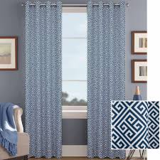 Living Room Curtains At Walmart by Mainstays Wave Print Casual Curtain Panel Walmart Com
