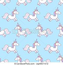 Unicorns Vector Illustration Seamless Pattern Rainbow On Colorful Background Cute Wallpaper