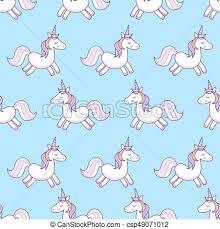 Unicorns Vector Illustration Seamless Pattern Rainbow On Colorful Background Cute Wallpaper