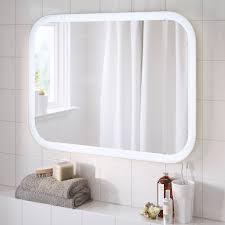 storjorm spiegel mit beleuchtung weiß 80x60 cm