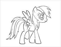 Free Coloring Pages My Little Pony Rainbow Dash Of