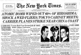 Atomic Bomb Wiped Out 60 Of Hiroshima The Times Wrote In 1945
