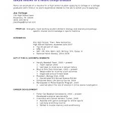 Resume Examples For Students With Little Experience Stunning Sample High School Graduate Without