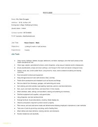 Example Of Resume Objective For Housekeeping Fresh Sample In Hospital Save Templates