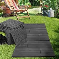 Kon Tiki Wood Deck Tiles by Casa Pura 11x Interlocking Wood Composite Deck Tiles Royal 24