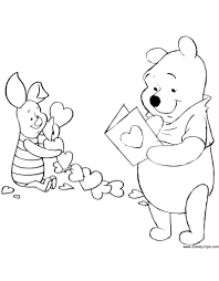 Free Printable Disney Valentine Coloring Sheets Valentines Day Pictures New Pages Amazing