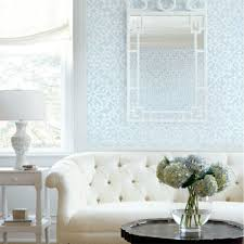 derbyshire damask wallpaper in light blue geometric wallpaper
