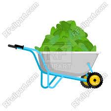 Wheelbarrow with cucumbers royalty free vector vector image