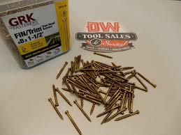 Grk 10 Cabinet Screws by Grk 8 X 1 1 2 U2033 Finish Trim Screws Pro Pak 915 Dw Tool Sales