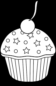 Cupcake Clipart Black And White 5225