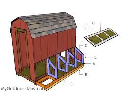 gambrel small chicken coop nest boxes plans myoutdoorplans