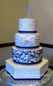 Wedding Cake Cakes Navy Blue Best Of Rustic To