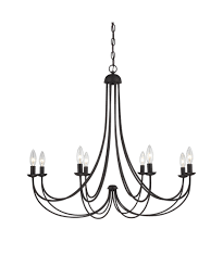 Marvelous Elstead Amarilli Light Chandelier In Black Silver Within