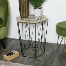 details zu geometrische sechseck draht metall freizeit tisch boho scandi wohnzimmer möbel