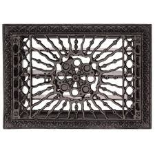 cast iron 13 1 2 inch sun design floor register