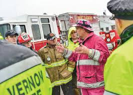 100 Pink Fire Trucks Heals A Show Of Support In Difficult Times The Brattleboro