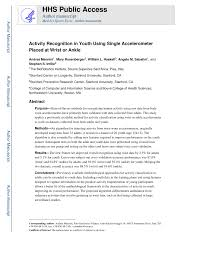 100 Mannini PDF Activity Recognition In Youth Using Single