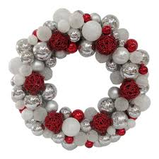 Lowes Canada Outdoor Christmas Decorations by Shop Allen Roth 24 In Indoor Outdoor Silver White Red Ornament