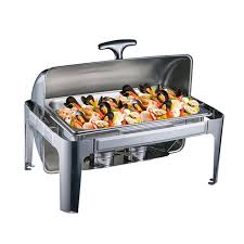 Stainless Steel Buffet Heater Chafing Dish Hotpot Holder 9L Wedding Winter Catering Banquet Cooking Pan Server