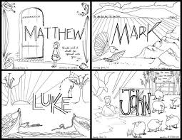 Free Coloring Pages For The Four Gospels Beautiful Illustrated Printable All 66 Books Of Bible