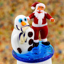 Frosty The Snowman Christmas Tree Theme by Santa U0026 Frosty The Snowman Christmas In Murano Glass Muranonet