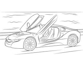 Click To See Printable Version Of 2015 BMW I8 Coloring Page