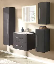 badezimmer badmöbel set homeline in anthrazit seidenglanz badkombination 6 teilig inkl waschbecken und led beleuchtung