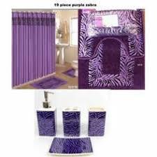 bathroom window curtain sets 15 pc bath rug set animal purple