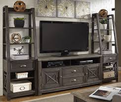 Heatherbrook Charcoal And Ash Entertainment Wall Unit From Liberty