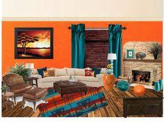 Teal Living Room Walls by Mixing Patterns Living Room In Teal Orange And White Living