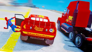 Lightning McQueen Losts Spiderman While Racing! Mack Truck, Disney ... Disney Cars Dkv46 Mack Playset Amazoncouk Toys Games Pixar Truck Hauler Lightning Mcqueen Carry Case 2 Mcqueen With Images Dinoco The Transportation With Mega Bloks 7769 155 Custom Monster Paulmartstore 3 2pcsset Uncle Tv Dvd In Newcastle Tyne And Wear Gumtree Cars Model Mack Car Lightning Mcqueen Haulers More Mernational Championship Trucks Mc