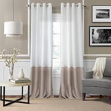 Bed Bath And Beyond Sheer Window Curtains by Elrene Melody Grommet Top Sheer Window Curtain Panel Bed Bath