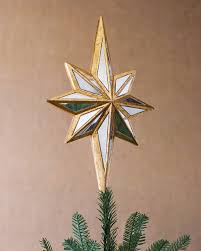 Unlit Christmas Tree Toppers by Mirrored Star Tree Topper Balsam Hill