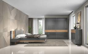 schlafzimmer komplett set e vaitele 6 teilig farbe anthrazit hochglanz walnuss