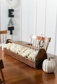 Is It Fair To Call If Fall Dining Room Decor I Added A Few Mini Grapevine Twig Wreaths The Backs Of Chairs