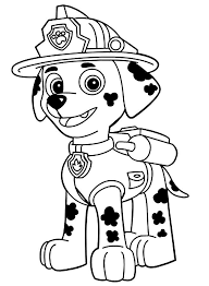 Tracker Paw Free Coloring Page O Animals Kids Patrol