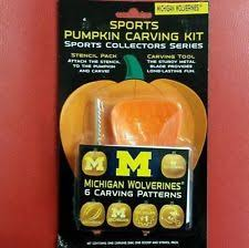Ohio State Pumpkin Template by Ncaa Michigan Wolverines Halloween Pumpkin Carving Kit Ebay