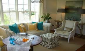 Grey Yellow And Turquoise Living Room by Living Room Brown Orange And Turquoise Livingm Decor Curtains