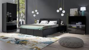 schlafzimmer komplett set 5 tlg labri schwarz schwarz hochglanz