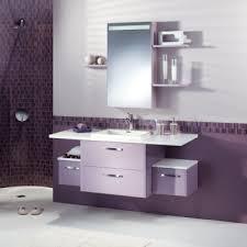 salle de bain mauve organisation décoration salle de bain mauve