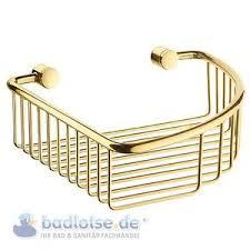 details zu smedbo villa gold farben duschkorb seifenkorb ablage dreieckig messing v274